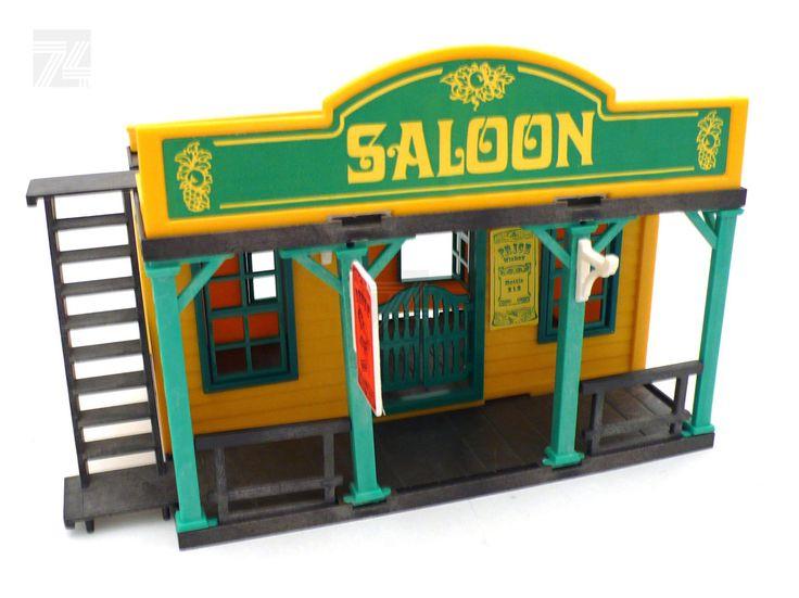 Vintage PLAYMOBIL WESTERN Saloon - cyan74.com vintage and pop culture online shop Switzerland Schweiz Swiss Suisse