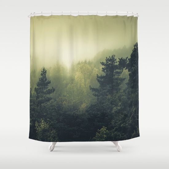 Buy Shower Curtains featuring Forests never sleep by HappyMelvin. Made from 100% easy care polyester our designer shower curtains are printed in the USA and feature a 12 button-hole top for simple hanging.