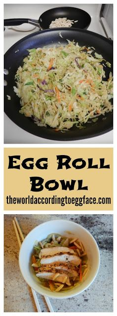 The World Based on Eggface Meals Weblog: Egg Roll Bowl fc14c2dbec342979fcad57edc75d96cb  low carb recipes diet recipes
