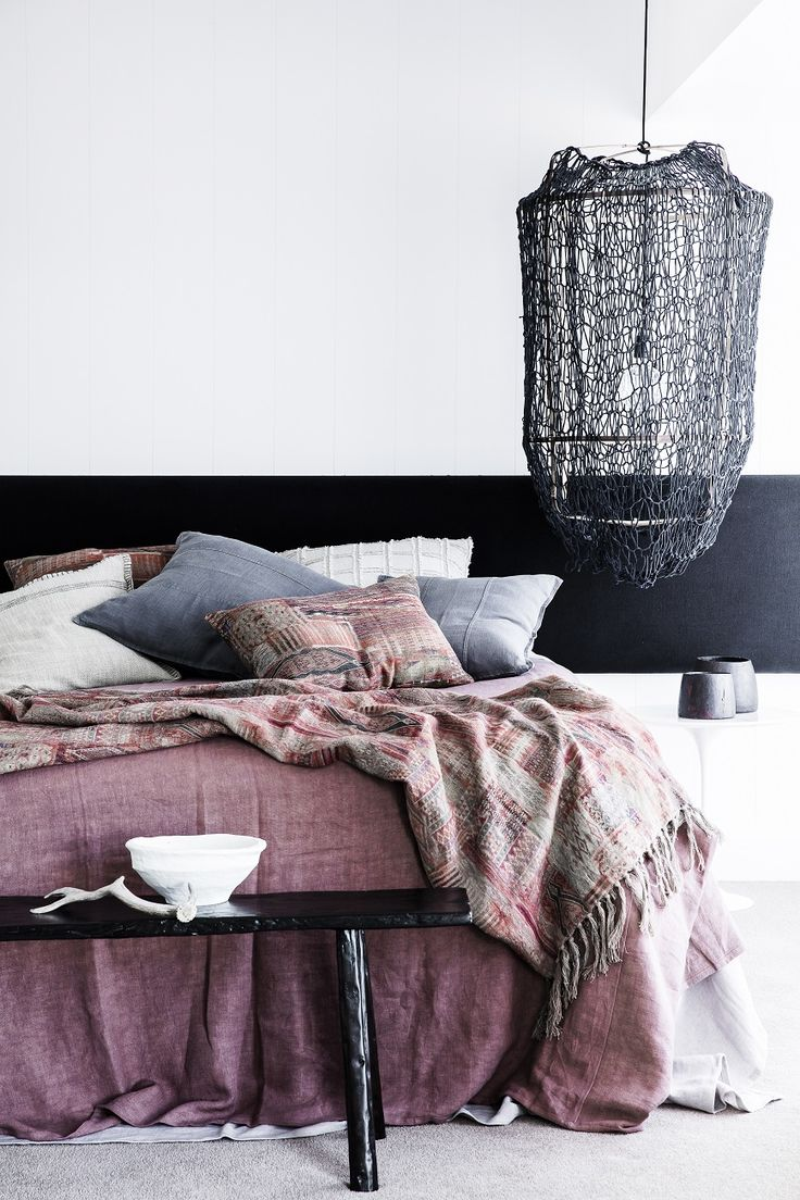 2015 08 decorating with plum and damson - Kilm Aztec Throw