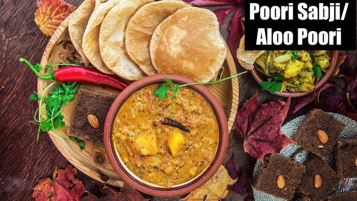 Aloo Poori Recipe | Puri Sabji Recipe | Aloo Ki Rasewali Sabzi With Puri — This is a North Indian breakfast-lunch recipe. Sabji is a spicy, aromatic and tangy potato dish. This is served with puffed up, deep fried Indian bread poori. From: mygingergarlickitchen.com/ #festival #diwalirecipes #videorecipe #breakfast #indianfood #lunch #dinner #vegetarian #alookisabji #potato #curry #poori #Puri