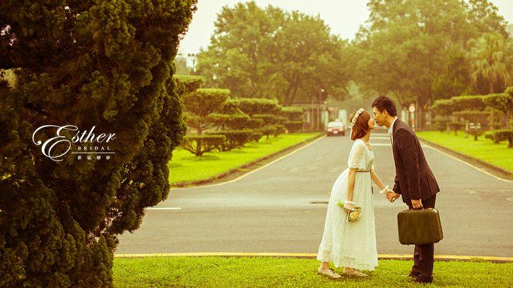 Vintage pre-wedding photo.