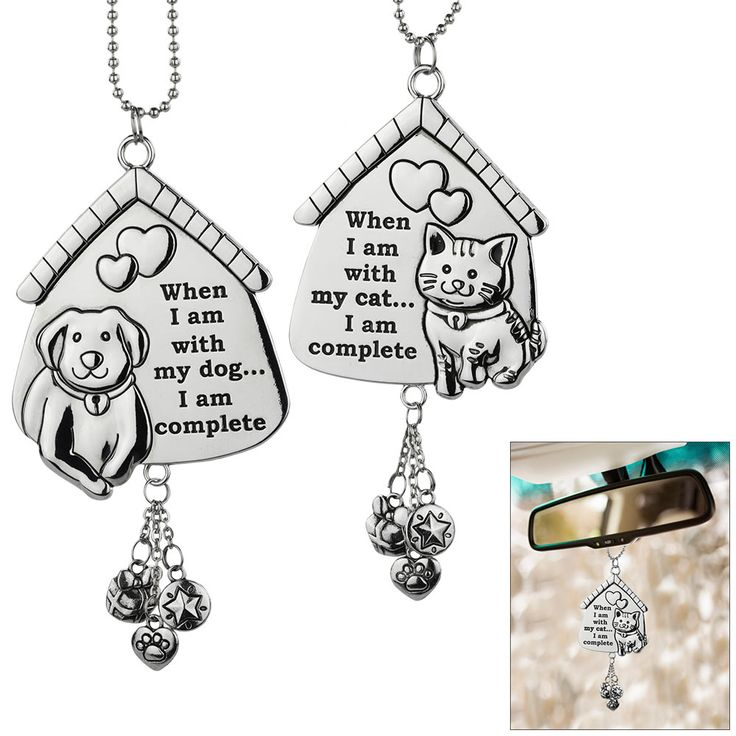 Start every day with a heartwarming reminder that your best friend is always there for you. This car charm features a welcoming smile from an adorable pooch or feline and three dangling trinkets including a paw, star, and gift box.