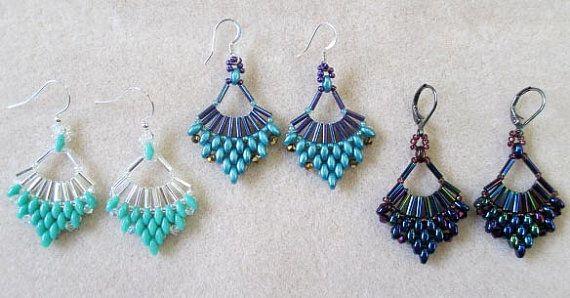 Flabellum Earrings Tutorial Beading Tutorials Beaded Earrings