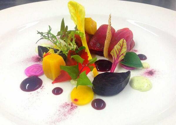 @cevatelat - Beetroot cured salmon, wasabi mayonnaise, vallum farm beetroot…
