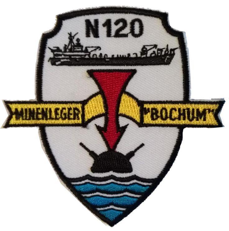 Patch GE Navy FGS Bochum Minelayer Aufnaeher Minenleger Bochum