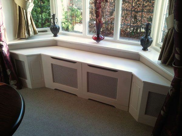 Bay windows window seats radiator cabinets our new for Bay window seat cost uk
