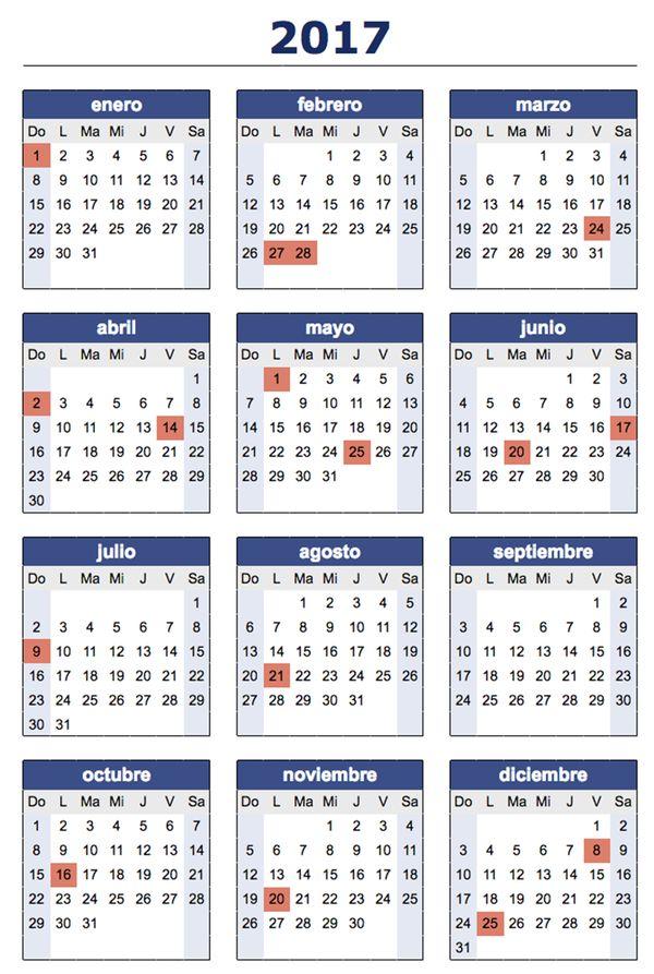 Best 25+ Calendario feriados 2017 ideas on Pinterest | Calendário ...