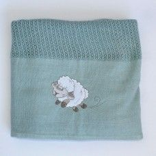 Counting Sheep Cellular Cotton Baby Blanket. Available online at http://www.babesandkids.co.za