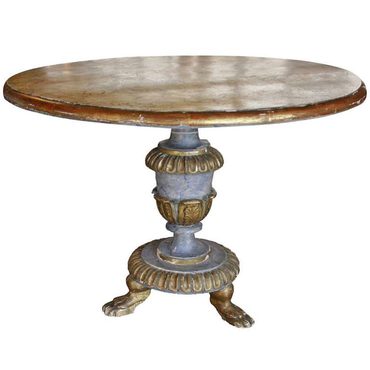 Italian Faux Painted Pedestal Table