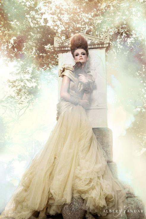 Wardrobe by Albert Yanuar. Photographer by Robin Alfian. Professional Make Up Artist by Erika Jennings. Model by Rinura Model Management - Veronika. Accessories by Jewel Of Eden. www.albertyanuar.com