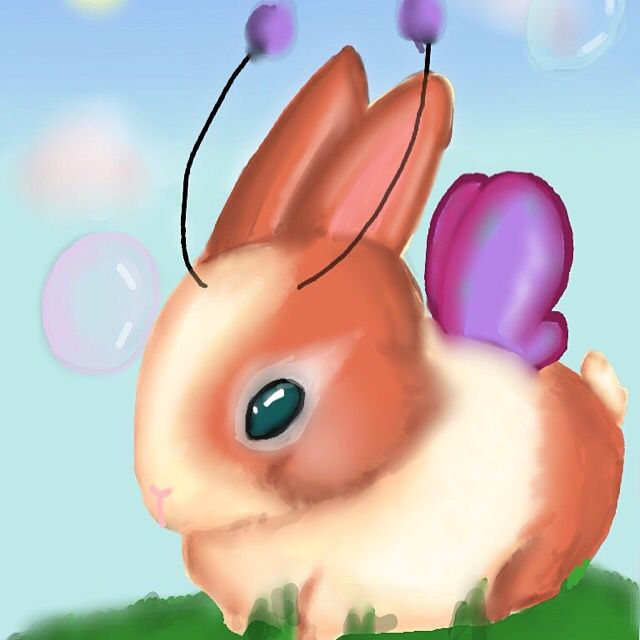 Just a sweet little bunny-wunnie picture I did a few weeks ago.