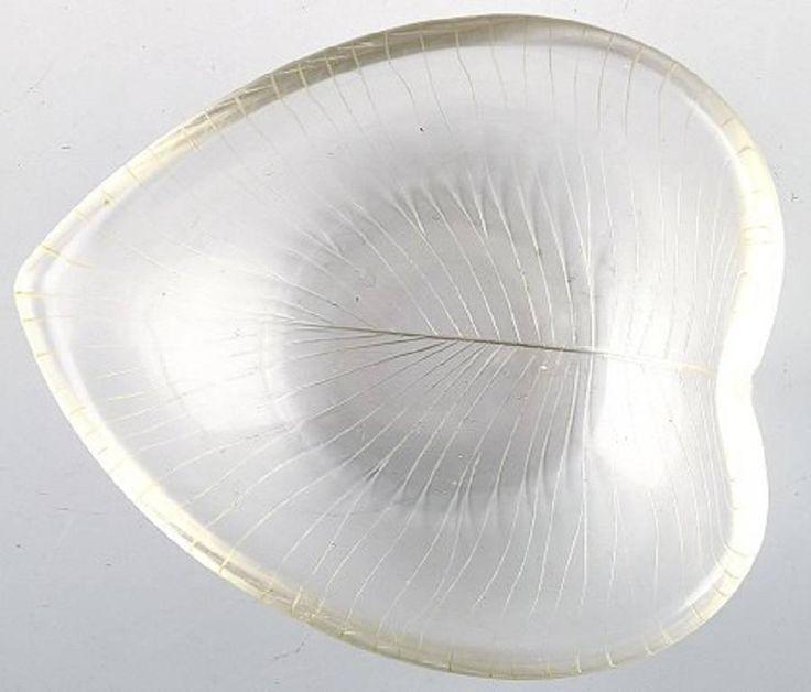 Tapio Wirkkala for Iittala Clear Art Glass Bowl with Engraved Decoration 2