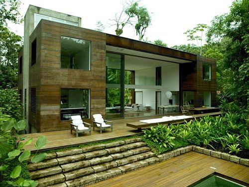 House in the Brazilian jungle.