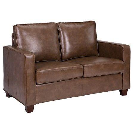 square arm bonded leather loveseat threshold targ