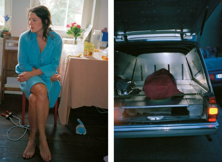 """""""Woman in Turquoise Dressing Gown & Hearse"""""""