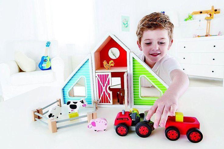 Hape Love Play Learn Wooden Toy - Barn Play - 16 piece - E3015 - New | Baby Toys & Activity Equipment | Fruugo United Kingdom
