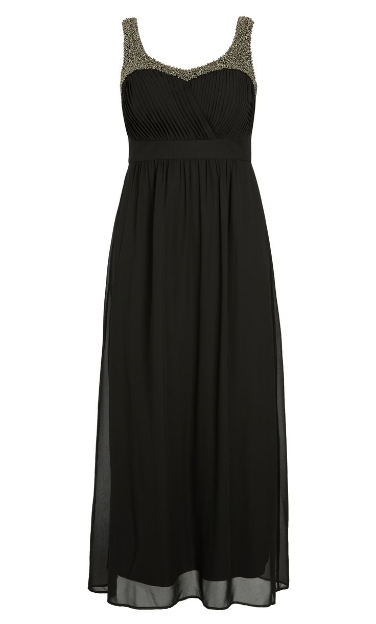 City Chic - EMBELLISHED STRAP MAXI DRESS - Women's Plus Size Fashion