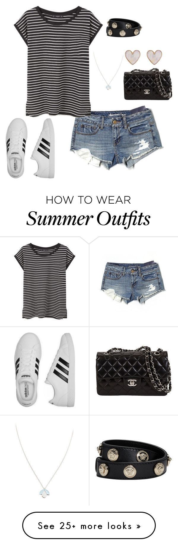 "Collection Of Summer Styles    ""Rio summer Olympics started"" by gemini-lady on Polyvore featuring American Eagle Outfitters, adidas, MANGO, Versace, Wolf & Moon and New Look    - #Outfits"