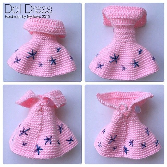 Doll Dress for my crochet doll @ Rou Rou