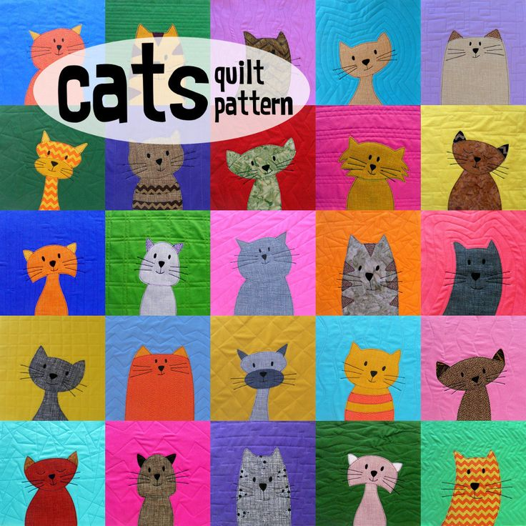 Cats Quilt Pattern Quilt, Cats and Cute cats