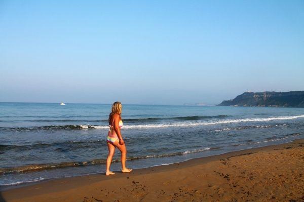 Walking on Arillas beach
