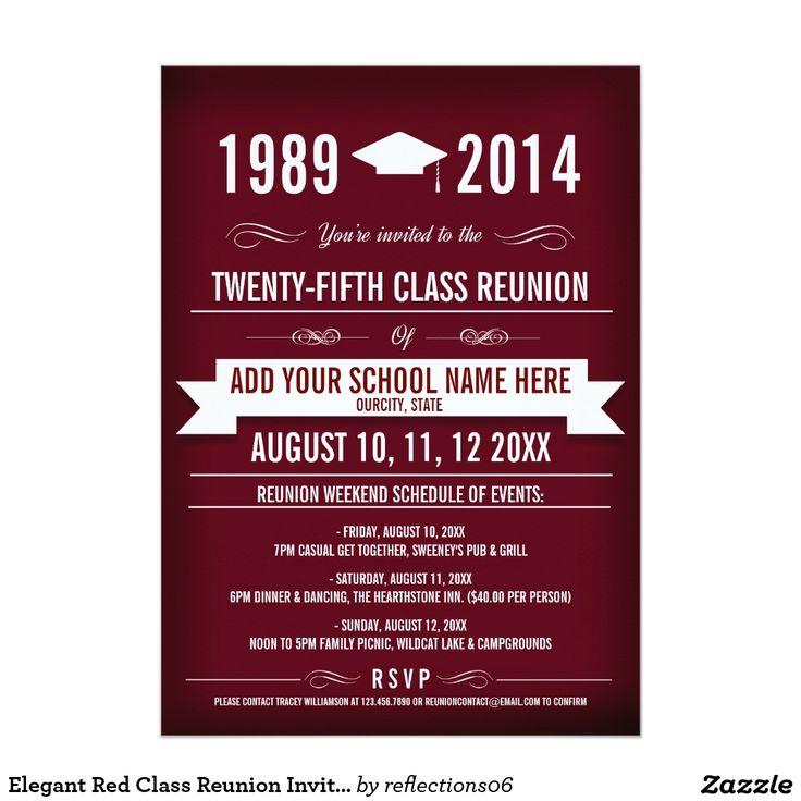 Best 25+ Class reunion invitations ideas on Pinterest   Class ...