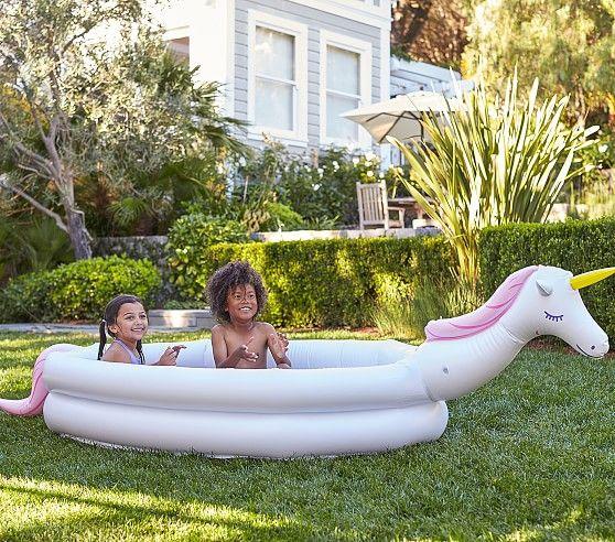 Unicorn Inflatable Pool   Pottery Barn Kids