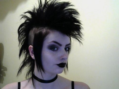 Goth Subculture | drillitinmygoodhole:My hair is now long enough to deathhawk. This is ...