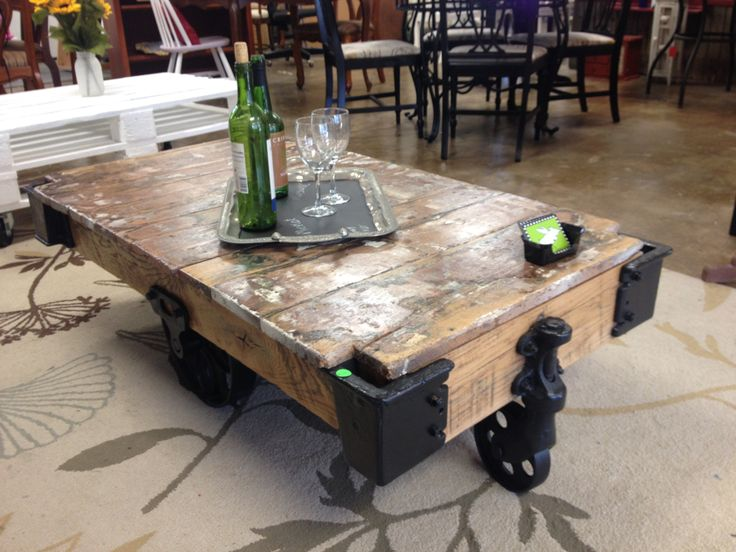 Factory cart/coffee table