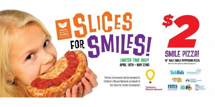 $2 Slices for Smiles Pizza @ Pizza Pizza Canada http://www.lavahotdeals.com/ca/cheap/2-slices-smiles-pizza-pizza-pizza-canada/84970