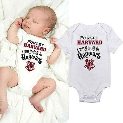 Cute Newborn Infant Kids Baby Boy Girl Harry Potter Cotton Short Sleeve Jumpsuit Bodysuit Clothes Outfit