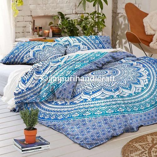 labhanshi exclusive blue ombre mandala queen size duvet cover ombre mandala quilt cover donna cover