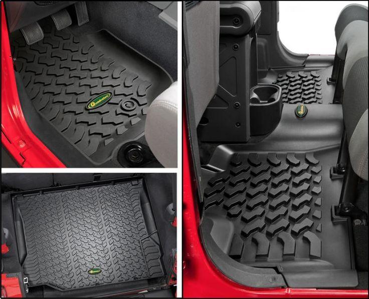 Quadratec® Ultimate All Weather Floor Liner Triple Combo for 07-13 Jeep® Wrangler Unlimited JK 4 Door