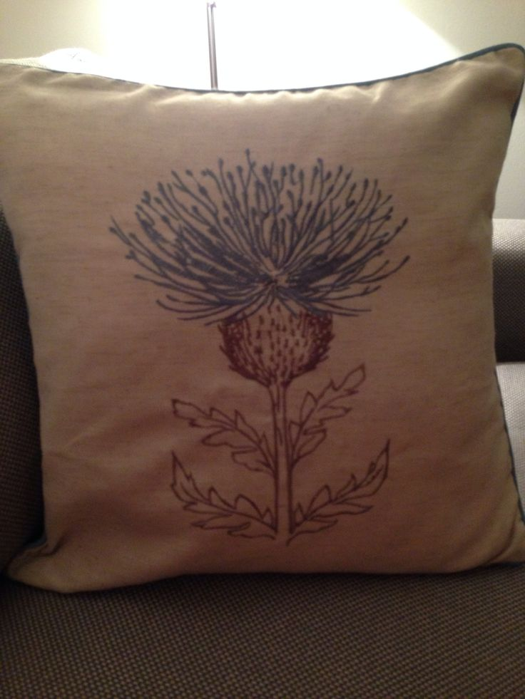 dunelm mill thistle cushion decorating pillows. Black Bedroom Furniture Sets. Home Design Ideas