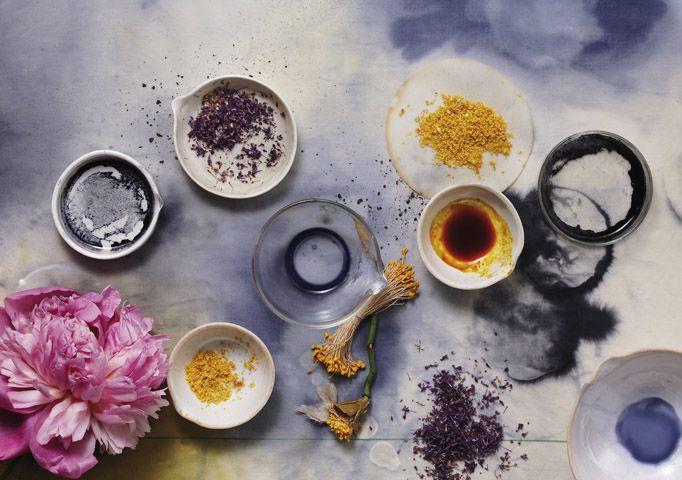 purple, yellow, pink dyeing; via Bloom Magazine