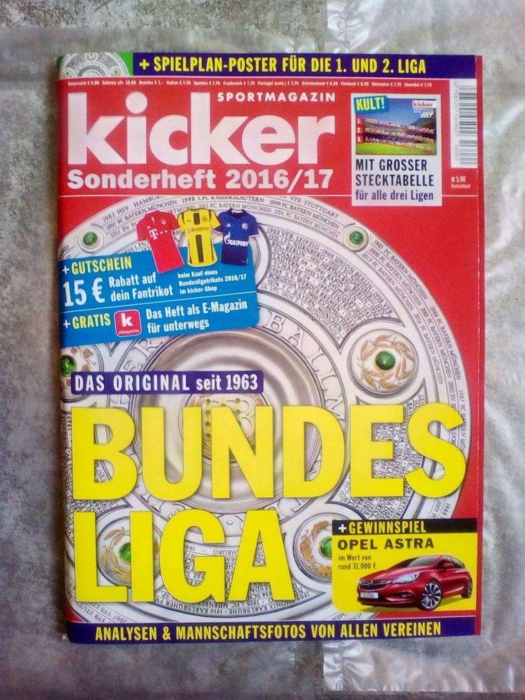 Kicker Sportmagazin!BUNDESLIGA Sonderheft 2016/17!NEU!