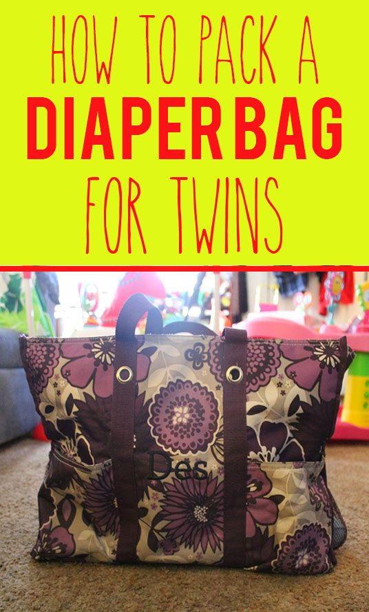 Twinstincts | How to Pack a Diaper Bag For Twins