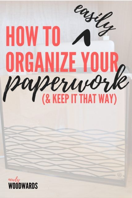 How to easily organize paperwork - and keep it that way. This is a quick and inexpensive way to keep your everyday papers from piling up on your counter.