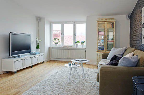 salon z telewizorem