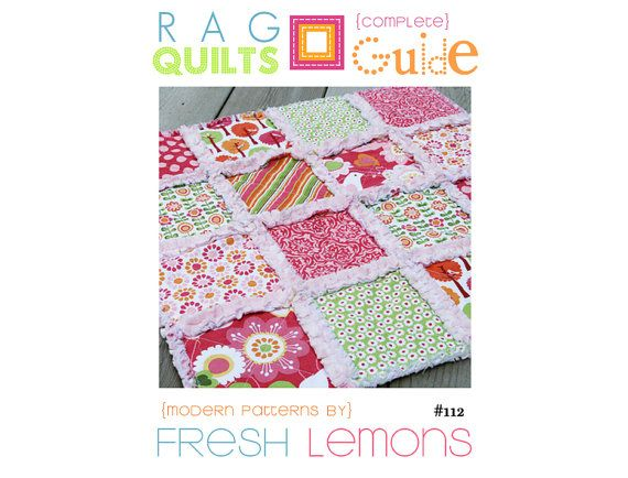 Rag Quilt Patterns | Sewing Pattern Rag Quilt Instructions by FreshLemonsQuilts