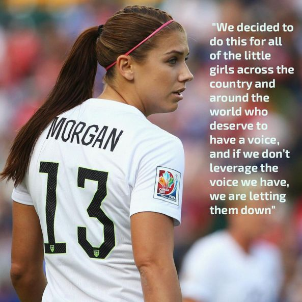 #AlexMorgan talks about the #USWNT suing U.S Soccer or equal pay #Soccer