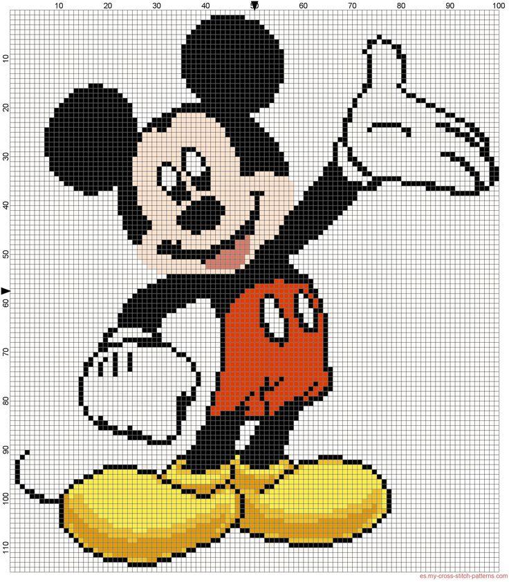 Mickey Mouse patron punto de cruz - 2186x2501 - 1797759