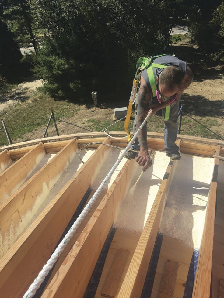 Insulating the roof of a Smiling Woods Yurt can be one of the trickier aspects of completing your project. The main reason for this is the reverse method of assembling the roof itself–starting from the inside and working your way upwards and outwards. We begin with installing ceiling panels–whether prefinished plywood panels or, as in …