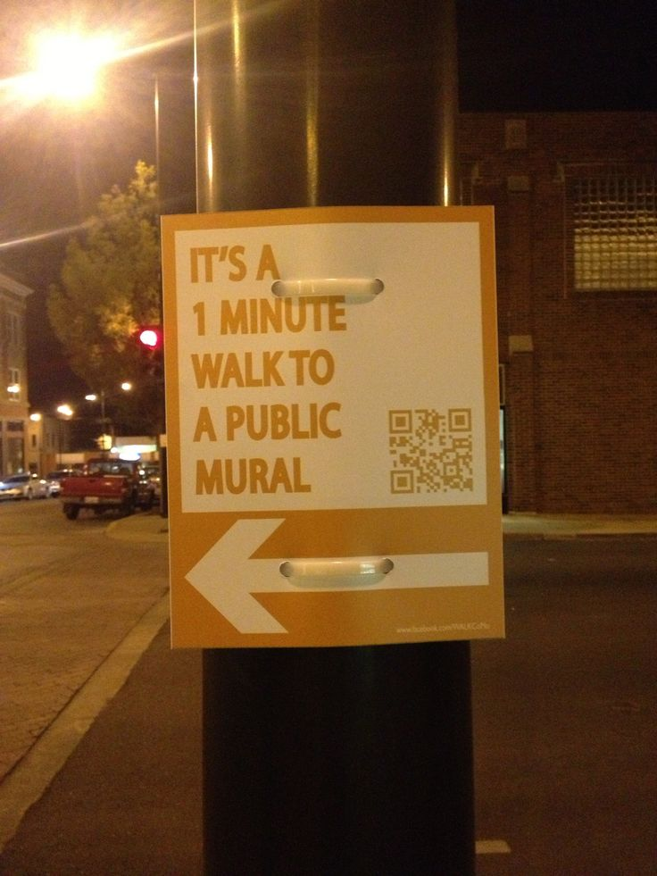 Public Art, directional signage to them
