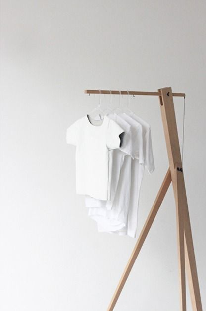 """White T-Shirts Just Hanging Out Together"", pinned by Ton van der Veer"