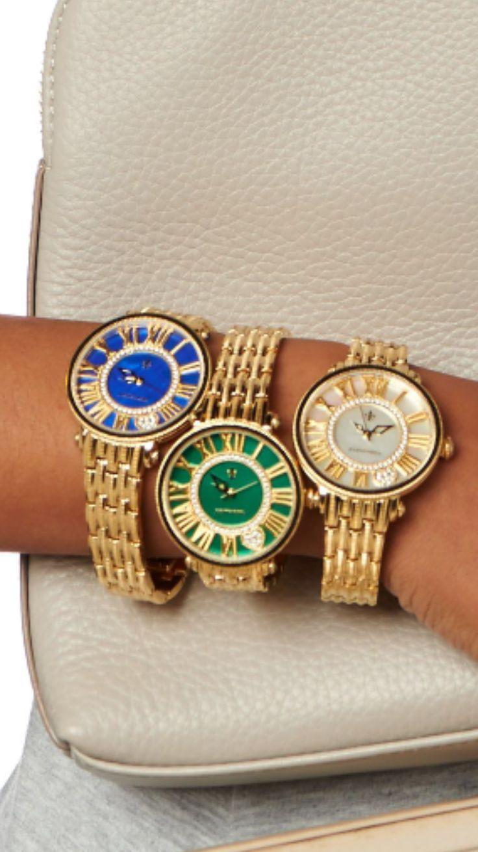 Judith Ripka gold London watch