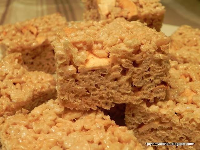 Apple Cinnamon Rice Krispie Treats | food I like | Pinterest