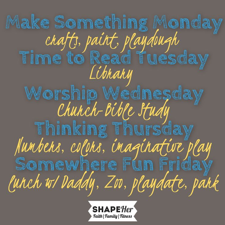 Stay at Home Mom daily schedule for kids  www.shapeher.weebly.com