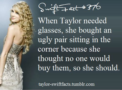 Taylor Swift Fact #376 LOVE this blog!!